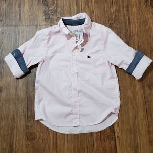 NWT H&M Button Down Long Sleeve - SIZE 2-3yrs